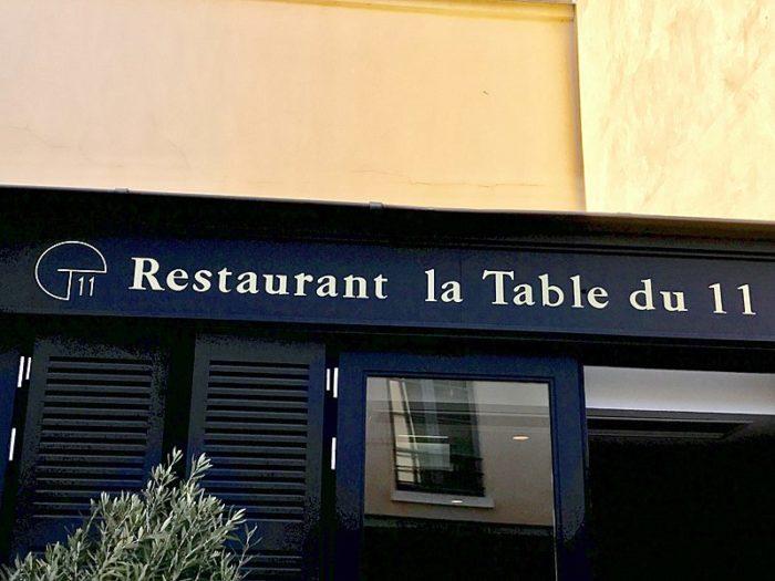 LA TABLE DU 11